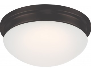 Nuvo Lighting 62/706 - LED - Indoor Ceiling Flush Mount Fixture - Spector Collection - Transitional Style - Aged Bronze Finish - Frosted Glass - Includes LED Warm Dim Panel - 16 Watt - 2,700 - 2,200 Kelvin