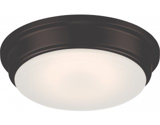 Nuvo Lighting 62/711 - LED - Indoor Ceiling Flush Mount Fixture - Haley Collection - Transitional Style - Aged Bronze Finish - Frosted Glass - Includes LED Warm Dim Panel - 16 Watt - 2,700 - 2,200 Kelvin