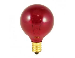 Bulbrite 306010 - 10G12R - 10 Watt - 130 Volt - Incandescent - G12 - Candelabra (E12) - Transparent Red - 2,700 Kelvin