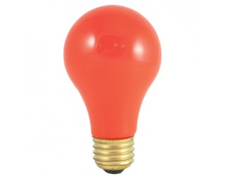 Bulbrite 106525 - 25A/CO - 25 Watt - 120 Volt - Incandescent - A19 - Medium (E26) - Ceramic Orange - 2,700 Kelvin