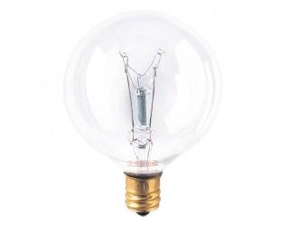Bulbrite 391140 - 40G16CL2 - 40 Watt - 120 Volt - Incandescent - G16.5 - Candelabra (E12) - Clear - 2,600 Kelvin