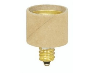 Satco 90-1519 - Candelabra (E12) to Medium (E26) Light Bulb Socket Extender / Adapter