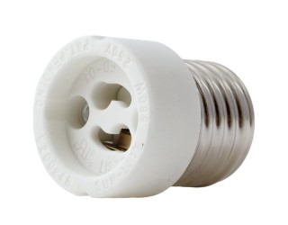 Satco 90-2433 - Medium (E26) to Twist And Lock (GU10) Light Bulb Socket Reducer (Overall Ext. 3/4'', Max. 660W-250V)