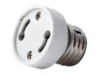 Satco 90-2434 - Medium (E26) to Twist And Lock (GU24) Light Bulb Socket Reducer / Adapter With Removable Grip Function (Max. 660W-250V)