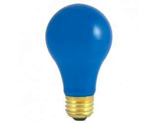 Bulbrite 106325 - 25A/CB - 25 Watt - 120 Volt - Incandescent - A19 - Medium (E26) - Ceramic Blue - 2,700 Kelvin