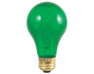 Bulbrite 105425 - 25A/TG - Incandescent - 25 Watt - 120 Volt - A19 - Medium (E26) - Transparent Green - 2,700 Kelvin