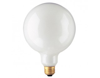 Bulbrite 350040 - 40G40WH - 40 Watt - 125 Volt - Incandescent - G40 - Medium (E26) - White - 2,600 Kelvin