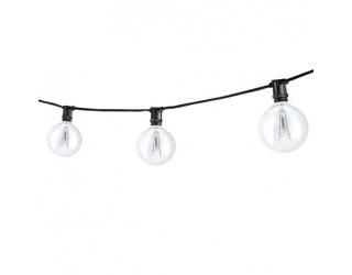 Bulbrite 810041 - STRING15/E12/BLACK-G16KT - Outdoor Mini String Light w/Incandescent G16 Globe Bulbs - 25 Feet - 15 Candelabra (E12) Sockets - Black - 2,600 Kelvin