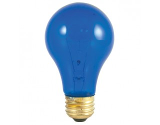 Bulbrite 105325 - 25A/TB - 25 Watt - 120 Volt - Incandescent - A19 - Medium (E26) - Transparent Blue - 2,700 Kelvin