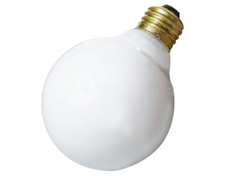Satco A3641 - 40G25/W - Incandescent - 130 Volt - 40 Watt - G25 - Medium (E26) - Dimmable Globe Light - Gloss White