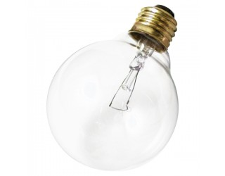Satco A3648 - 40G25 - Incandescent - 130 Volt - 40 Watt - G25 - Medium (E26) - Dimmable Globe Light - Clear Finish