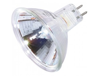 Satco S1966 - 20MR16/FL/C - 20 Watt - 12 Volt - Halogen - MR16 - Mini Bi-Pin (GU5.3/GX5.3)