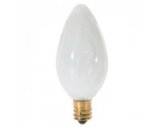 (2 Pack) Satco S2772 - 25F10/W - Incandescent - 120 Volt - 25 Watt - F10 - Candelabra (E12) - Dimmable Decorative Light - White