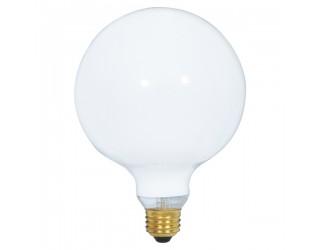 Satco S3000 - 25G40/W - Incandescent - 120 Volt - 25 Watt - G40 - Medium (E26) - Dimmable Globe Light - Gloss White