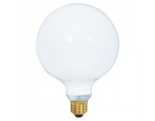 Satco S3002 - 60G40/W - Incandescent - 120 Volt - 60 Watt - G40 - Medium (E26) - Dimmable Globe Light - Gloss White