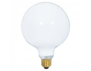 Satco S3004 - 150G40/W - Incandescent - 120 Volt - 150 Watt - G40 - Medium (E26) - Dimmable Globe Light - Gloss White
