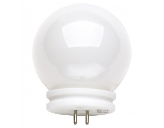 Satco S3189 - 50JCGV-G14/BALL - 50 Watt - 12 Volt - Halogen - G14 - Mini Bi-Pin (GU5.3/GX5.3) - White