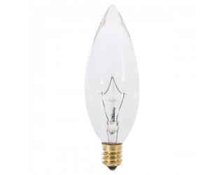 Satco S3392 - 60B10 - Incandescent - 120 Volt - 60 Watt - B10 - European (E14) - Dimmable Decorative Light - Clear Finish