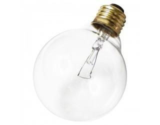 Satco S3447 - 25G25 - Incandescent - 120 Volt - 25 Watt - G25 - Medium (E26) - Dimmable Globe Light - Clear Finish