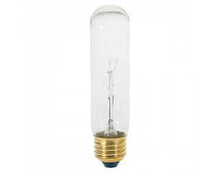 Satco S3704 - 60T10 - Incandescent - 120 Volt - 60 Watt - T10 - Medium (E26) - Tubular - Dimmable - Clear Finish