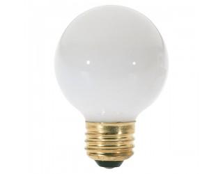 Satco S3828 - 40G18 1/2/W - Incandescent - 120 Volt - 40 Watt - G18.5 - Medium (E26) - Dimmable Globe Light - Gloss White