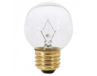 Satco S3838 - 25G16 1/2 - Incandescent - 120 Volt - 25 Watt - G16.5 - Medium (E26) - Dimmable Globe Light - Clear Finish
