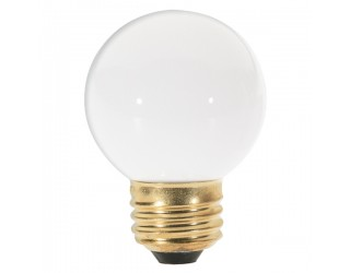 Satco S3842 - 40G16 1/2/W - Incandescent - 120 Volt - 40 Watt - G16.5 - Medium (E26) - Dimmable Globe Light - Gloss White