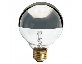 Satco S3860 - 25G25/SL - Incandescent - 120 Volt - 25 Watt - G25 - Medium (E26) - Dimmable Globe Light - Silver Crown
