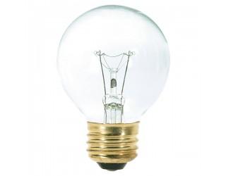 Satco S3887 - 25G18 1/2 - Incandescent - 120 Volt - 25 Watt - G18.5 - Medium (E26) - Dimmable Globe Light - Clear Finish