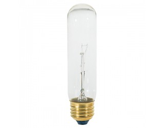 Satco S3896 - 60T10 - Incandescent - 120 Volt - 60 Watt - T10 - Medium (E26) - Tubular - Dimmable - Clear Finish