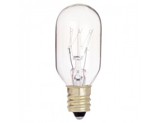 (10 Pack) Satco S3907 - 25T8/C - Incandescent - 130 Volt - 25 Watt - T8 - Candelabra (E12) - Indicator & Sign - Dimmable - Clear Finish