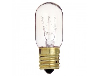 Satco S3911 - 15T7/N - Incandescent - 130 Volt - 15 Watt - T7 - Intermediate (E17) - Indicator & Sign - Dimmable - Clear Finish