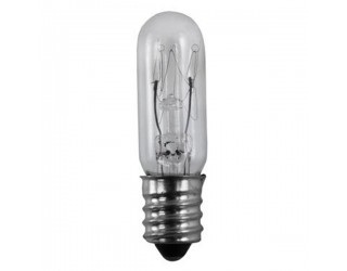 Satco S3913 - 15T4 1/2/C - Incandescent - 130 Volt - 15 Watt - T4.5 - Candelabra (E12) - Indicator & Sign - Dimmable - Clear Finish