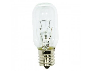 Satco S3917 - 40T8N - Incandescent - 130 Volt - 40 Watt - T8 - Intermediate (E17) - Indicator & Sign - Dimmable - Clear Finish