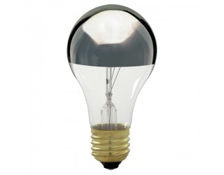 Satco S3956 - 100A/SL - 100 Watt - 130 Volt - Incandescent - A19 - Medium (E26) - Silver Crown