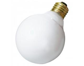 (3 Pack) Satco S4041 - 40G25/W/3PK - Incandescent - 120 Volt - 40 Watt - G25 - Medium (E26) - Dimmable Globe Light - Gloss White