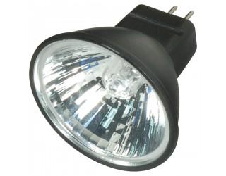 Satco S4174 - 35MR11/FTH/B/C - Halogen - 35 Watt - 12 Volt - MR11 - Sub-Miniature Bi-Pin (GZ4) - Black - 2,900 Kelvin (Warm White)