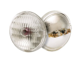 Satco S4300 - 4014 6V 18W ST2 PAR36 C6 - Sealed Beam Lamp - 18 Watt - 6.4 Volt - PAR36 - Screw Terminal (MP2)