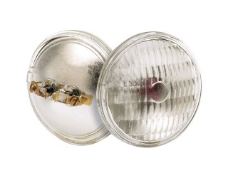 Satco S4325 - H7550 6V 8W MP2 PAR36 C6 - Sealed Beam Lamp - 8 Watt - 6 Volt - PAR36 - Screw Terminal (MP2)