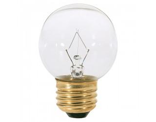 Satco S4540 - 60G16 1/2 - Incandescent - 120 Volt - 60 Watt - G16.5 - Medium (E26) - Dimmable Globe Light - Clear Finish