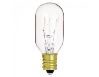 Satco S4718 - 15T7C - Incandescent - 130 Volt - 15 Watt - T7 - Candelabra (E12) - Indicator & Sign - Dimmable - Clear Finish