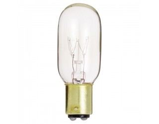 Satco S4719 - 15T7/DC - Incandescent - 130 Volt - 15 Watt - T7 - DC Bayonet (BA15d) - Indicator & Sign - Dimmable - Clear Finish