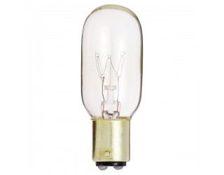 Satco S4721 - 25T8/DC - Incandescent - 130 Volt - 25 Watt - T8 - DC Bayonet (BA15d) - Indicator & Sign - Dimmable - Clear Finish