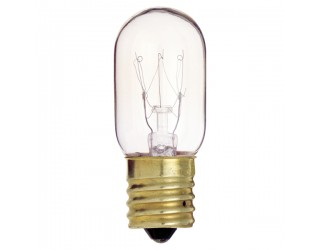Satco S4722 - 15T7/N - Incandescent - 130 Volt - 15 Watt - T7 - Intermediate (E17) - Indicator & Sign - Dimmable - Clear Finish