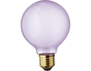Satco S4815 - 40G25/VLX - Incandescent - 120 Volt - 40 Watt - G25 - Medium (E26) - Dimmable Globe Light - Frosted Full Spectrum
