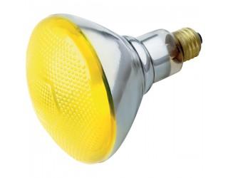 Satco S5004 - 100/BR38/Y/230V - 100 Watt - 230 Volt - Incandescent - BR38 - Medium European (E27) - Yellow