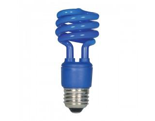 Satco S5514 - 13T2/Blue - 13 Watt - 120 Volt - Compact Fluorescent - T2 - Medium (E26) - Blue