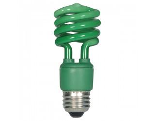 Satco S7272 - 13T2/Green - 13 Watt - 120 Volt - Compact Fluorescent - T2 - Medium (E26)