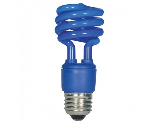 Satco S7273 - 13T2/Blue - 13 Watt - 120 Volt - Compact Fluorescent - T2 - Medium (E26)