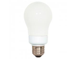 Satco S7283 - 7A19/50 - 7 Watt - 120 Volt - Compact Fluorescent - A19 - Medium (E26) - 5,000 Kelvin